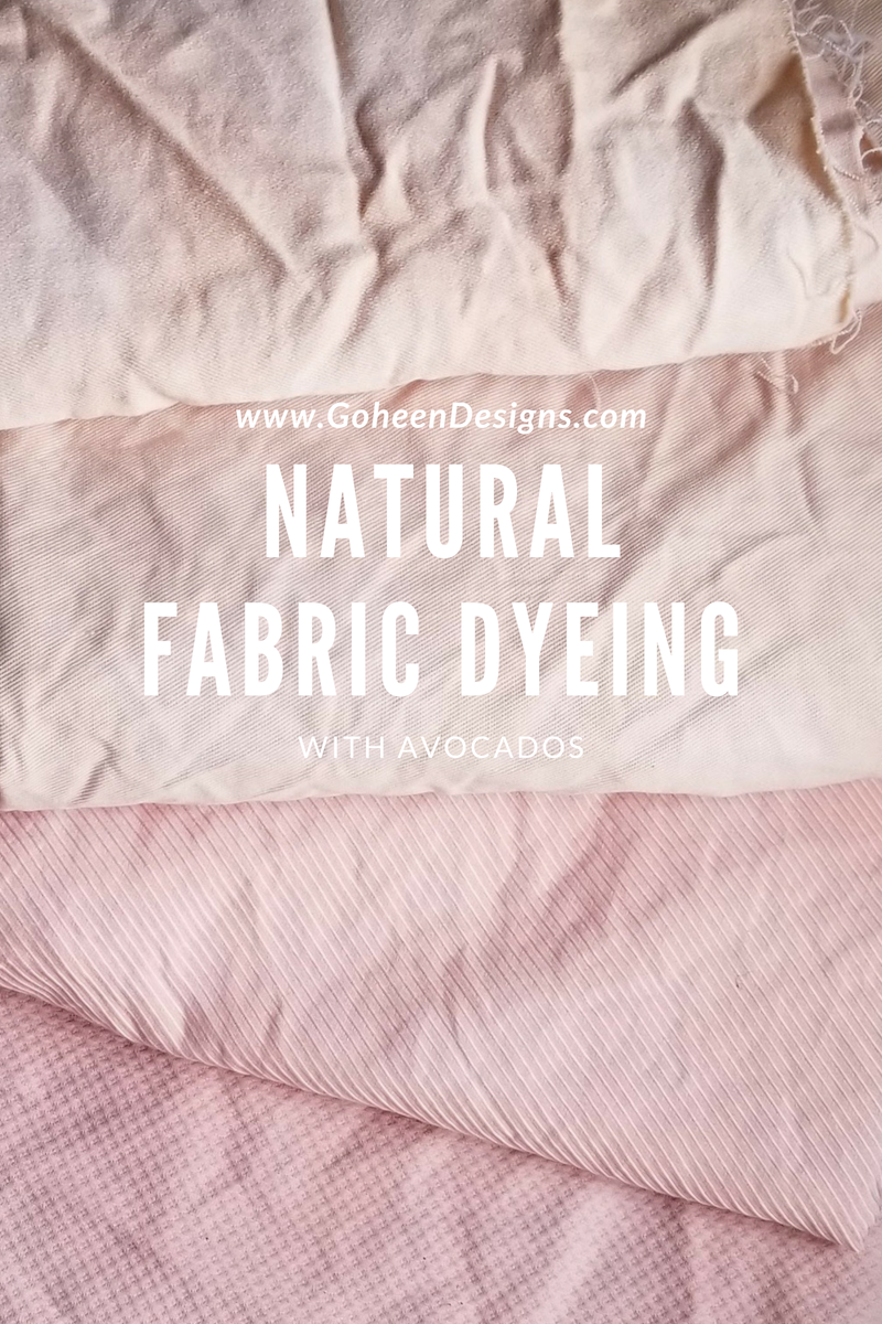 natural fabric dyeing with avocados
