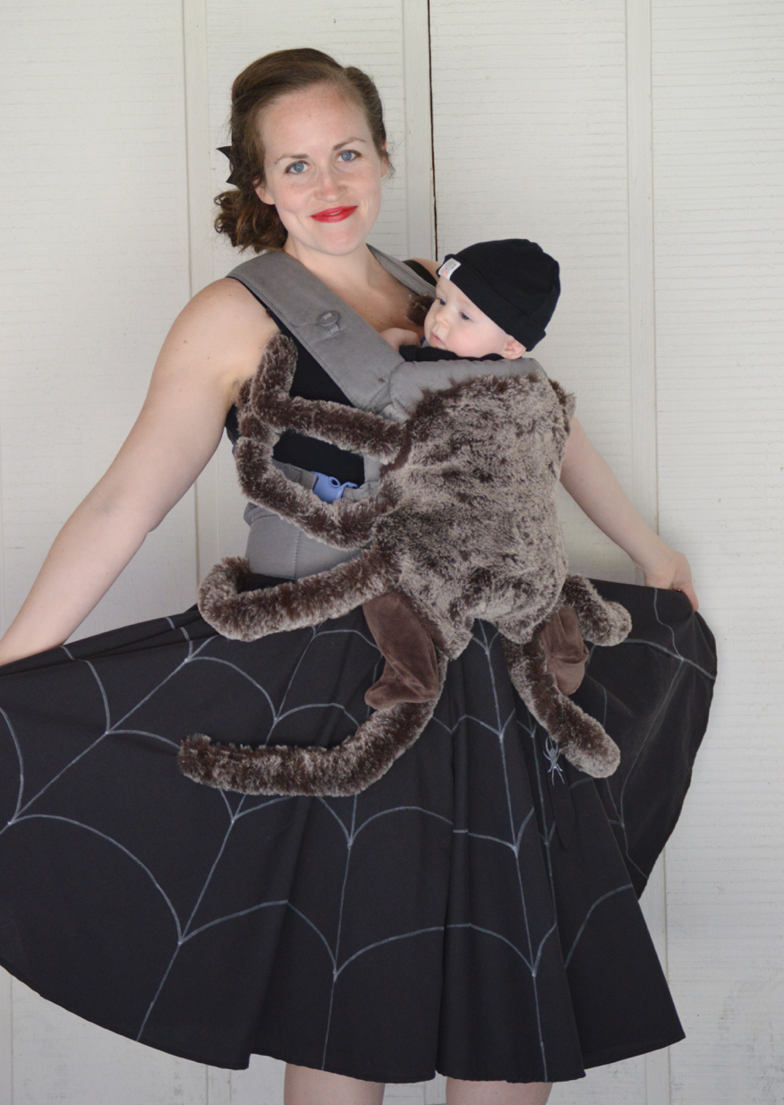 spider and web baby and mom costume