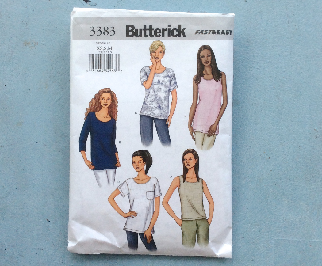 butterick fast and easy 3383 sewing pattern