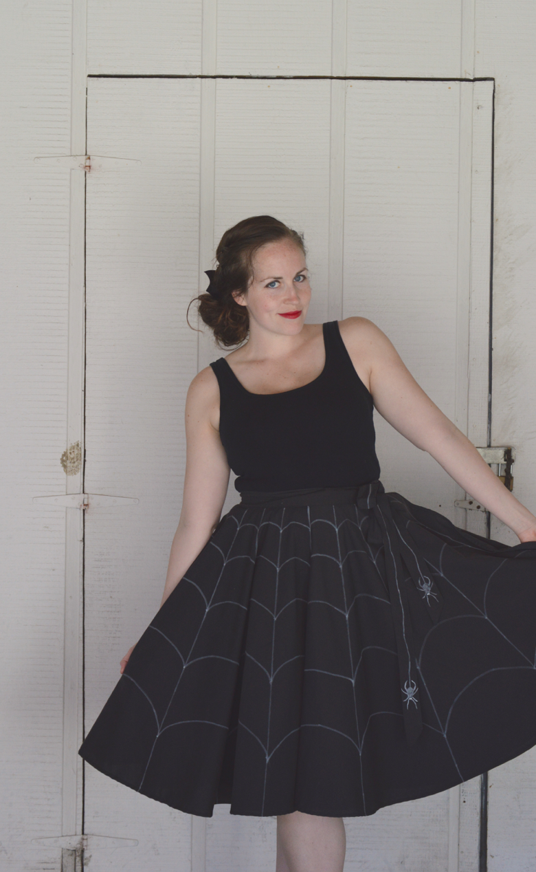 spiderweb wrap skirt for halloween