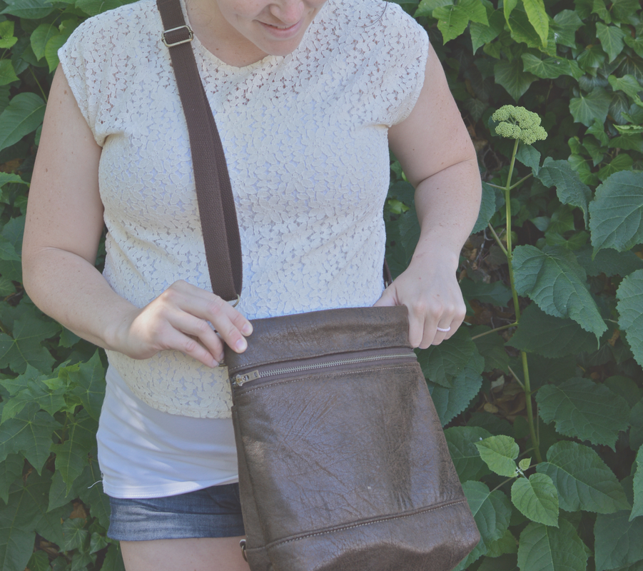 cross body bag conversion sewing pattern