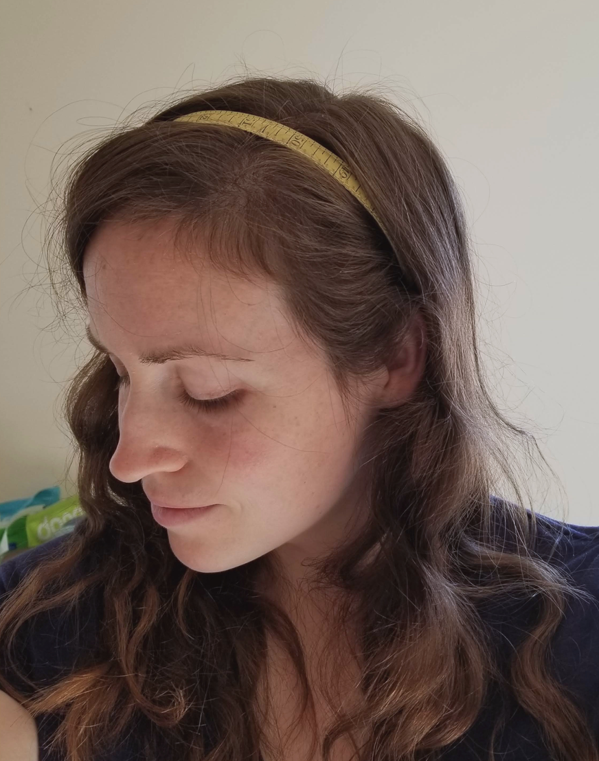 seamstress headband tutorial diy measuring tape head piece