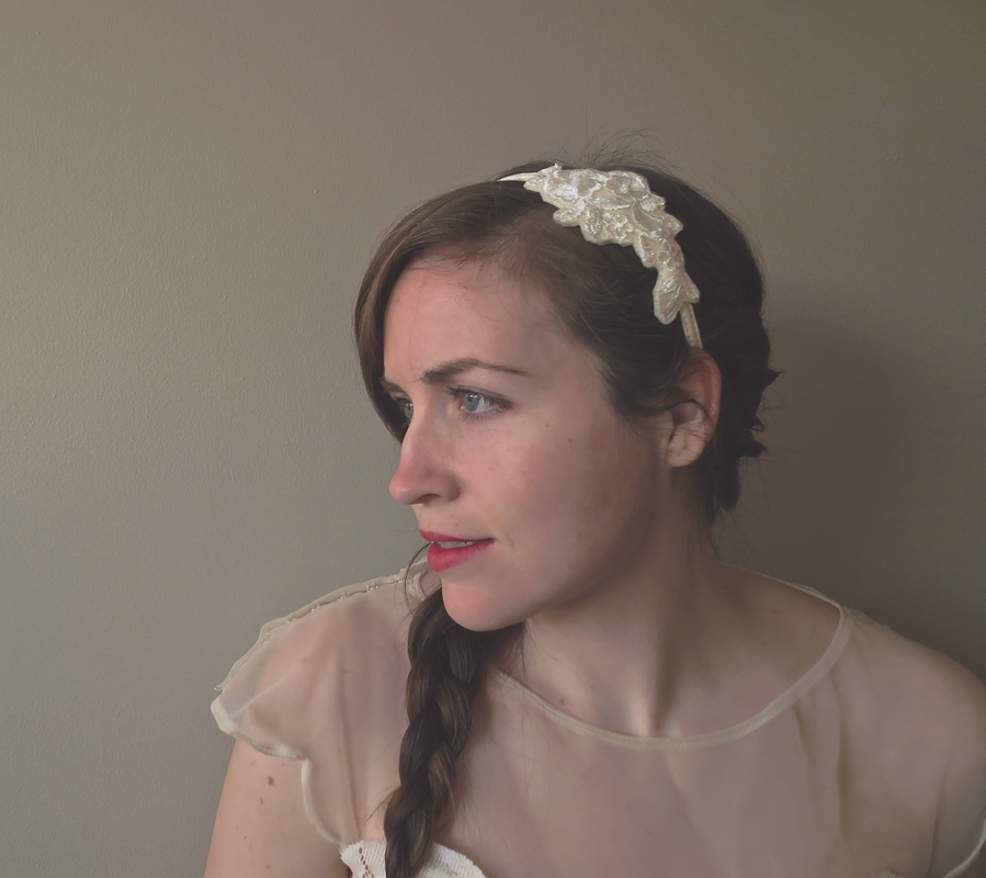 diy lace wedding headband
