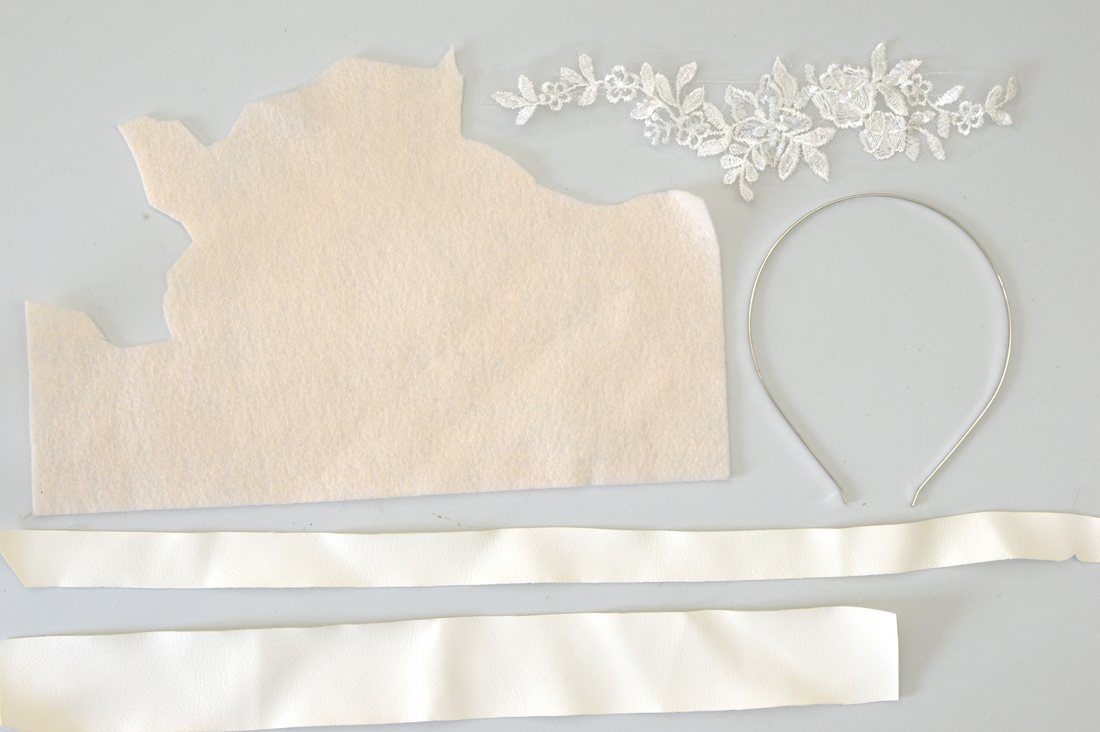 diy upcycled lace wedding headband tutorial