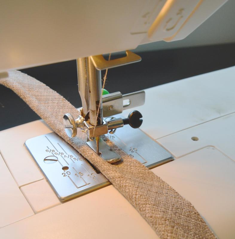 sewing cording with a zipper foot