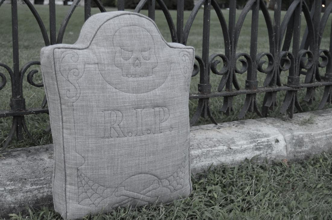 tombstone pillow diy your own graveyard cemetery