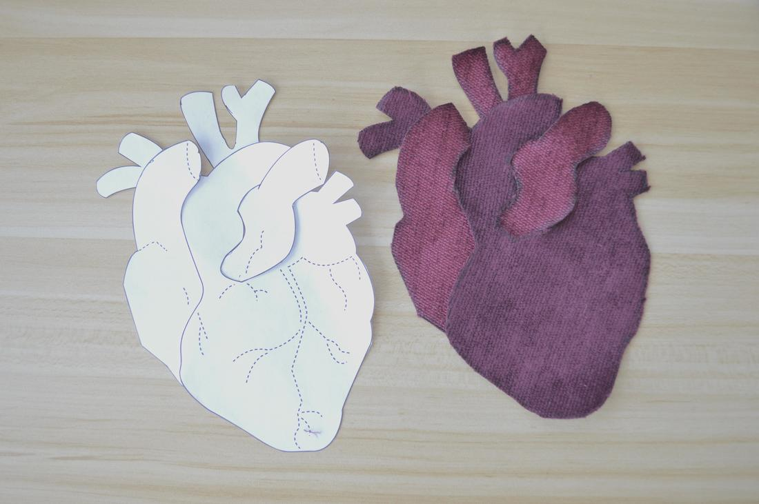 anatomical heart applique sewing pattern pdf