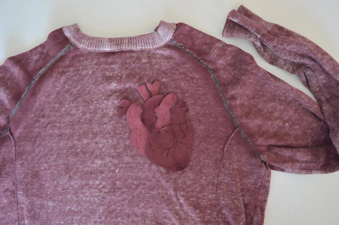macabre sweater diy halloween anatomical heart