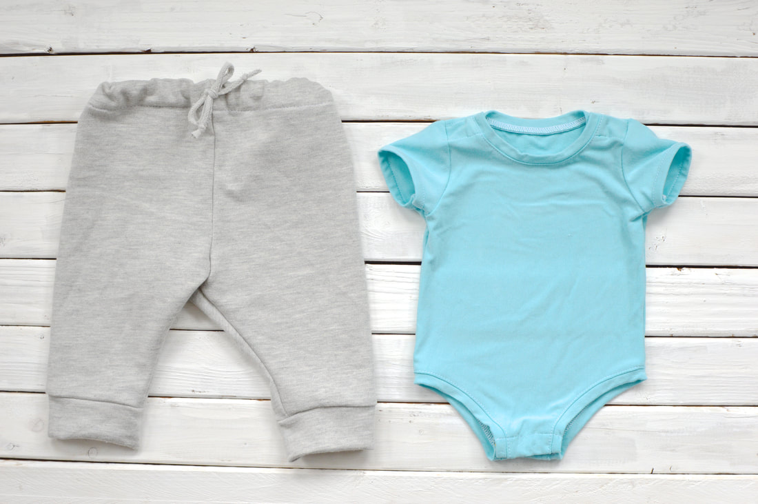 sewing baby onesies and sweatpants