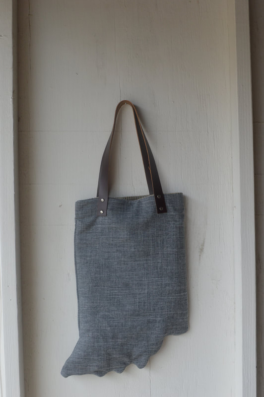 indiana bag with leather handles