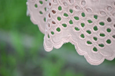 using the edge of fabric as a hem blush eyelet