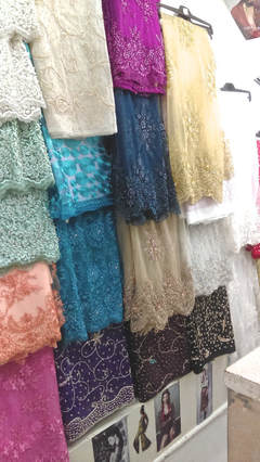 London, England textiles sequined lace