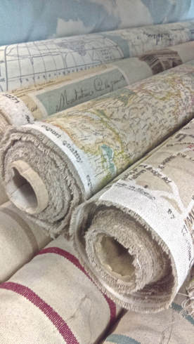 world map fabric