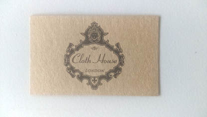 Cloth House London kraft business card