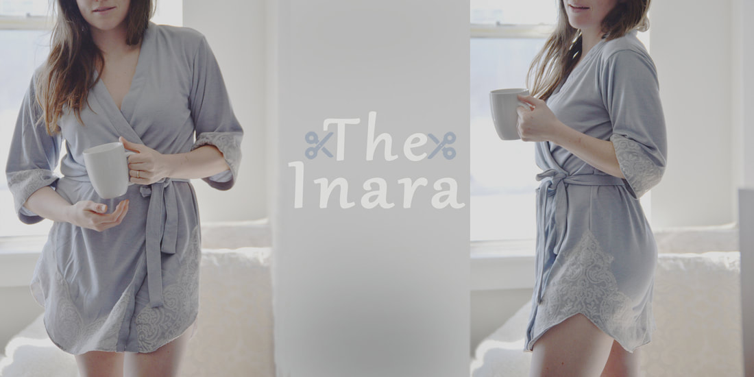 The Inara robe sewing pattern indie sewing sexy robe
