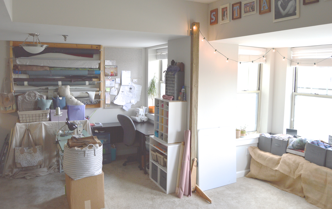 craft sewing work room tour