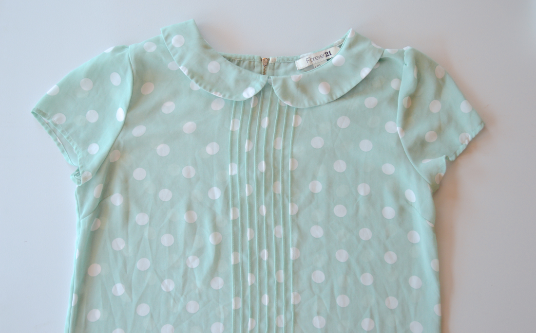 Polka dot top refashion