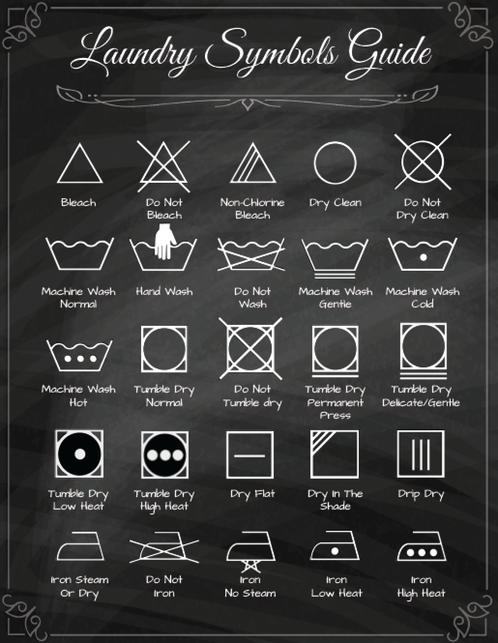Laundry Symbols Guide Free Printable
