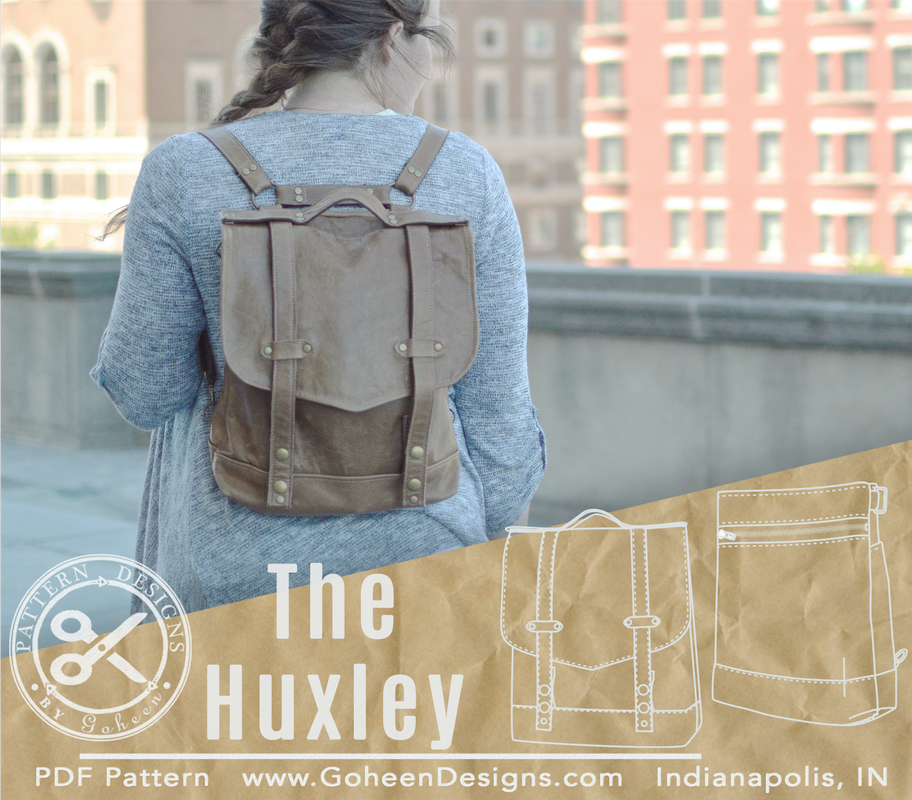the huxley convertible bag sewing pattern