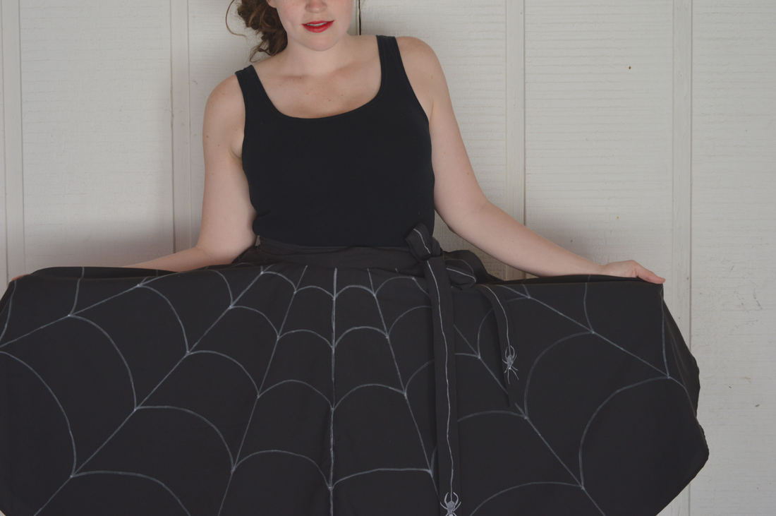 spider web circle skirt diy