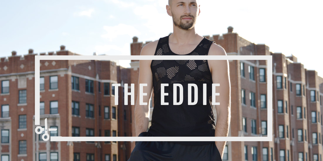 The Eddie sewing pattern for men workout tank